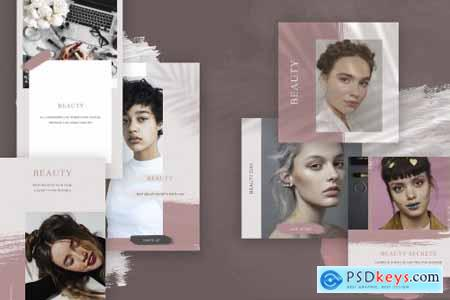 Beauty Instagram Template, Social media pack, Fashion stories template