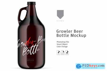 Growler Beer Bottle Mockup 3877192