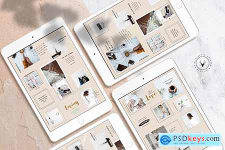 InstaGrid 2.0 Canva Puzzle Template 3877383