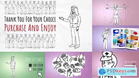Videohive Doodle Characters Kit