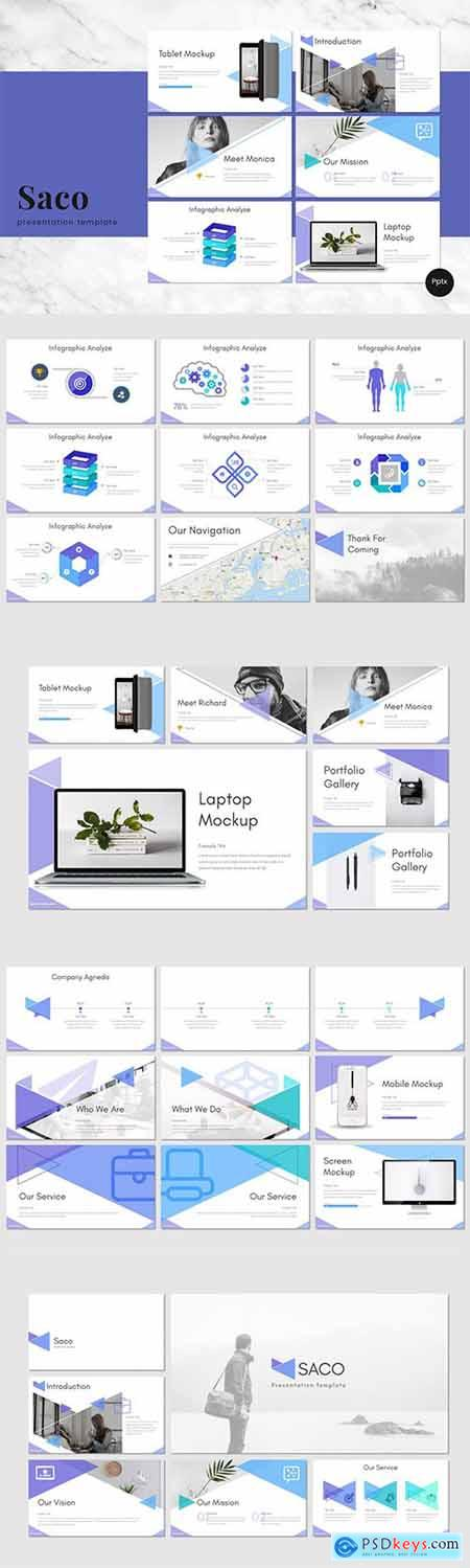 Saco - Powerpoint, Keynote and Google Slides Templates
