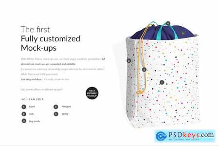 Laundry Bag With Drawstring Mock-ups 3857211