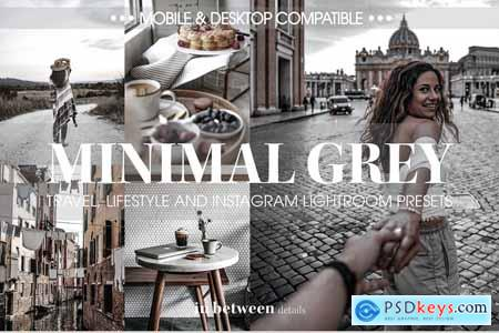 Minimal Grey Lightroom Mobile Preset 3836032
