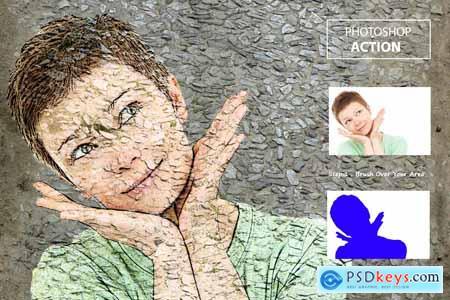 Side walk portrait - Ps Action 3839733