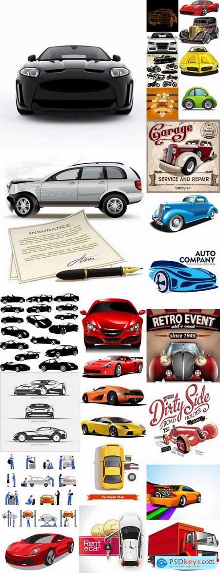 Car machine icon vector image 25 EPS
