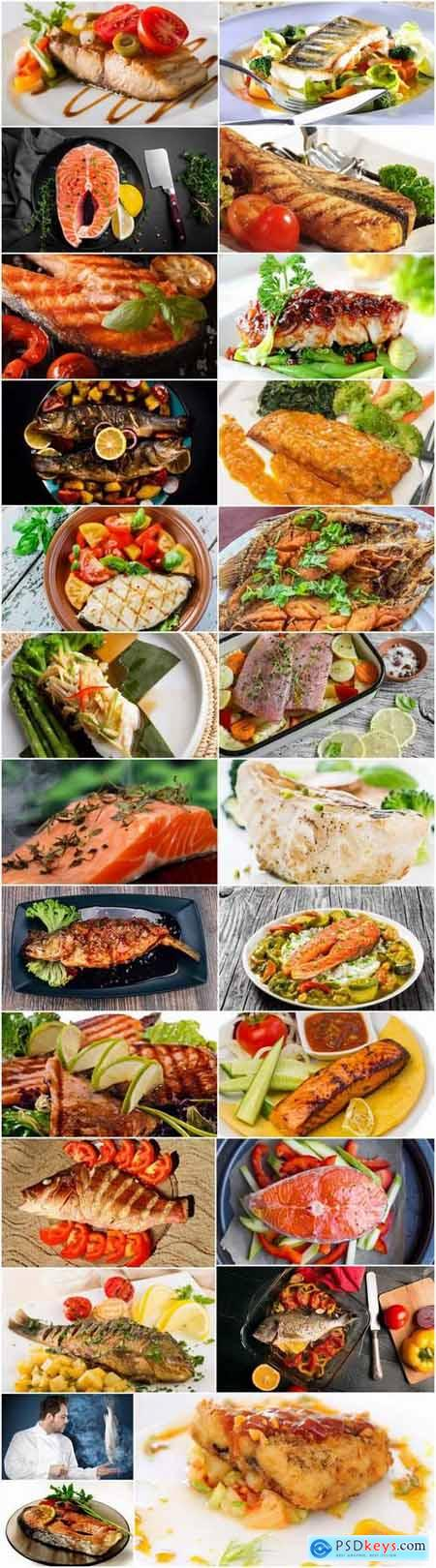 Steak grilled fish salmon tuna snapper 25 HQ Jpeg