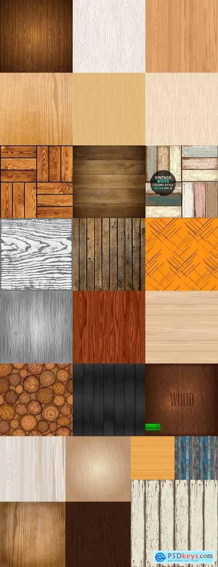 Wood texture pattern background is a vector image 25 EPS