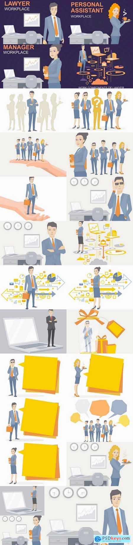 Business people vector image 25 Eps