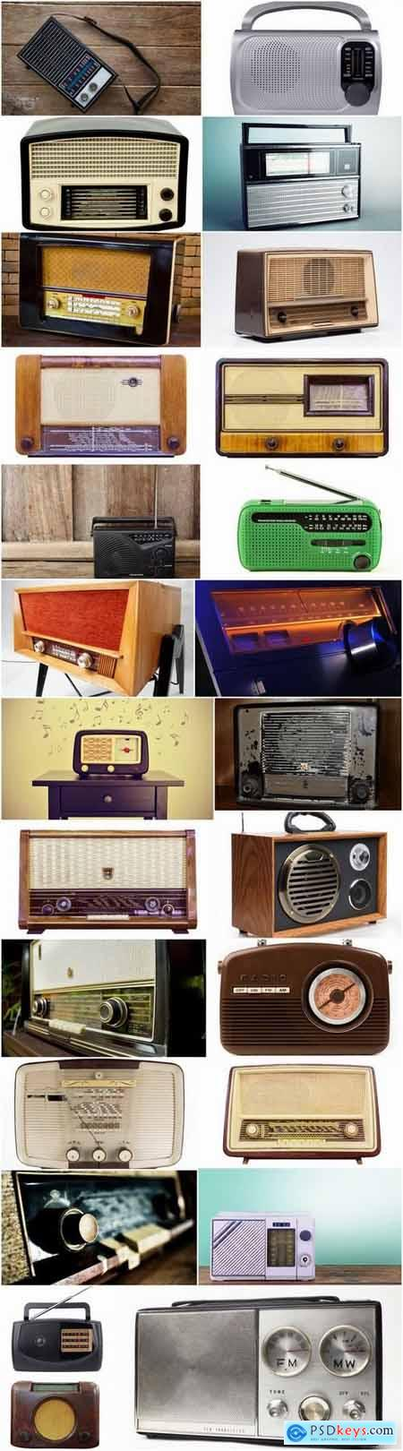 Different vintage radios 25 HQ Jpeg