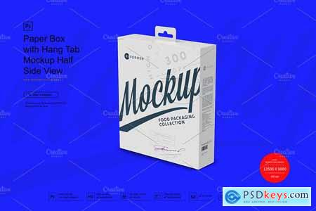 Paper Box with Hang Tab Mockup 3882462