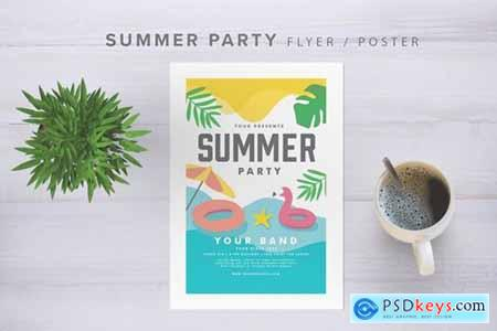 Summer Party Flyer NDBMV4H