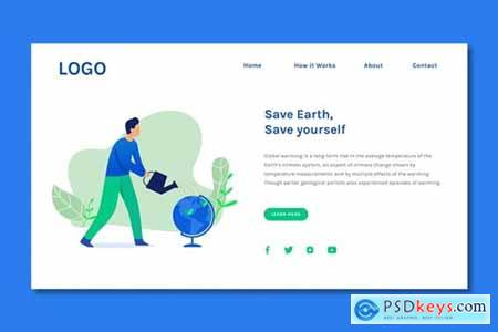 Save Earth - Landing Page Template