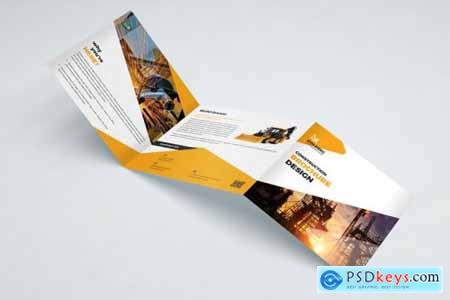 Construction Square Trifold Brochure 3594465