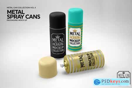 Metal Spray Cans Packaging Mockup 3884310
