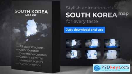 Videohive South Korea Map - Republic of Korea Map
