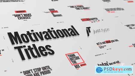 VideoHive Just Type Motivational Titles
