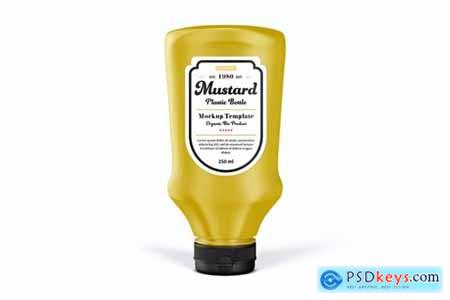 Mustard Bottle Mock-Up Template