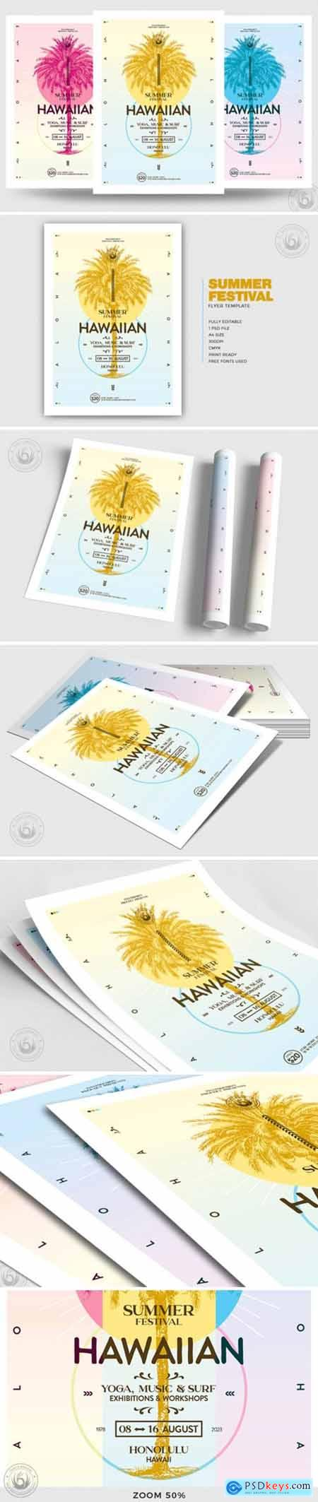 Summer Festival Flyer Template V2 3886634