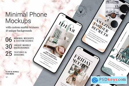Minimal Phone Mockups & Shadows 3891353