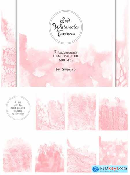 Soft Romantic Watercolor Background 1544025