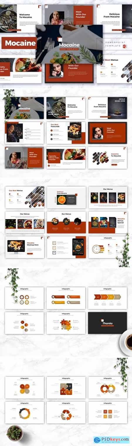 MOCAINE - Restaurant & Food Powerpoint, Keynote and Google Slides Templates