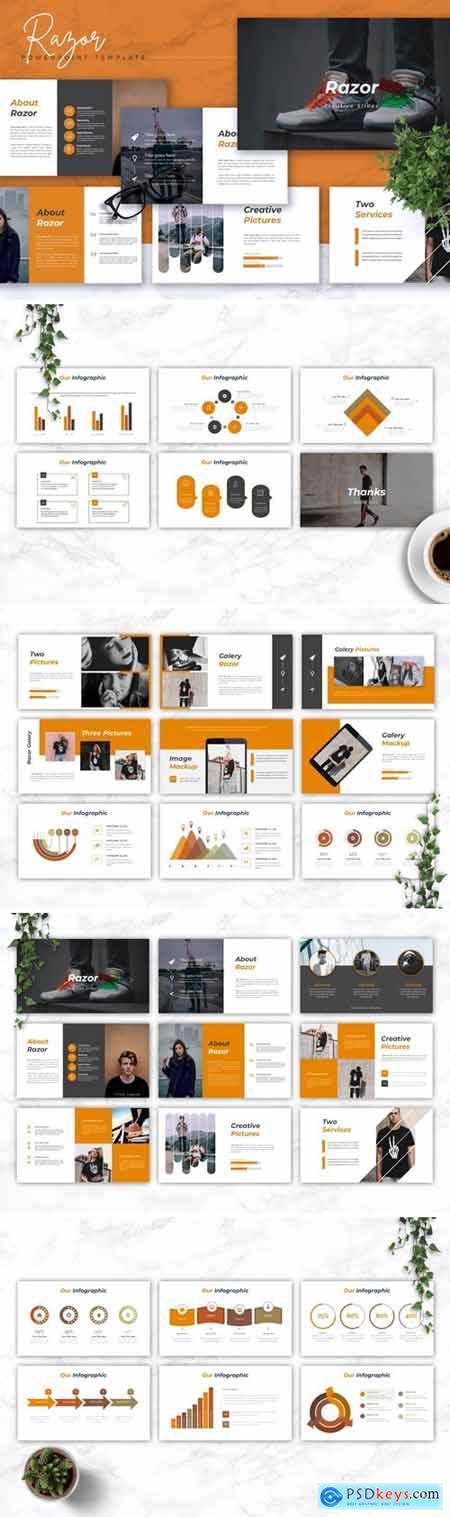 RAZOR - Creative Powerpoint, Keynote and Google Slides Templates