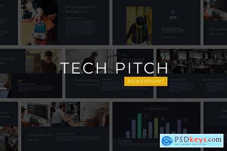 Tech Pitch Powerpoint, Keynote and Google Slides Templates