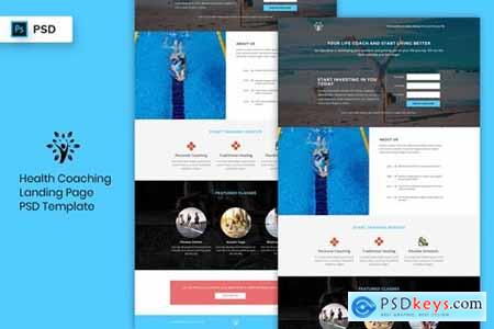 Health Coaching - Landing Page PSD Template