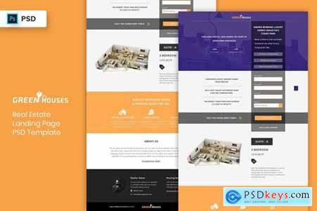 Real Estate - Landing Page PSD Template