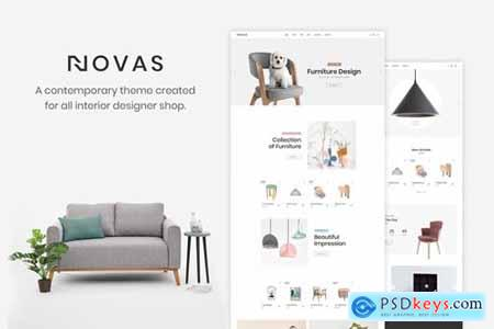 Novas Furniture Store and Handmade Shop PSD Template 22794519