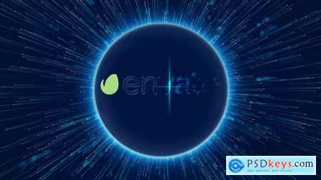Videohive Digital Data World Logo Reveal 4K