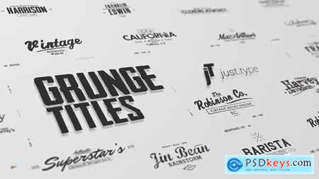 Videohive Just Type Grunge Titles