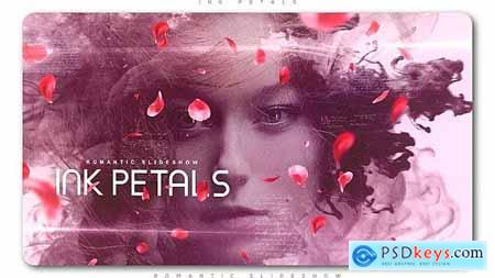 Videohive Ink Petals Romantic Slideshow