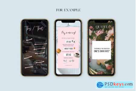 Q+A Instagram Stories Game Templates, Stories, Modern Social Media Tem