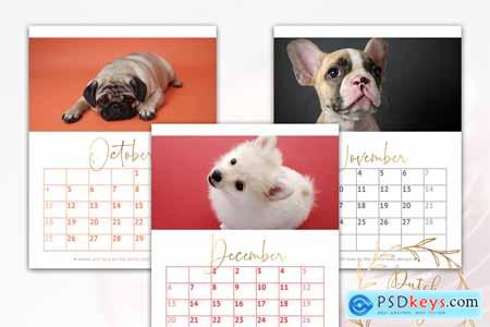 Printable Monthly Calendar 2020 Dogs 3895184