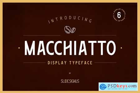 Macchiato Display Font 3897281