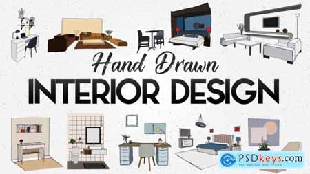 Videohive Hand Drawn Interior Designs