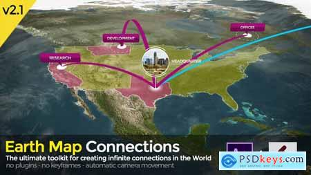 Videohive Earth Map Connections V2.1
