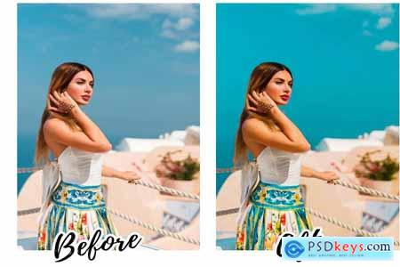 Creativemarket SANTORINI Mobile Lightroom Presets 3862558