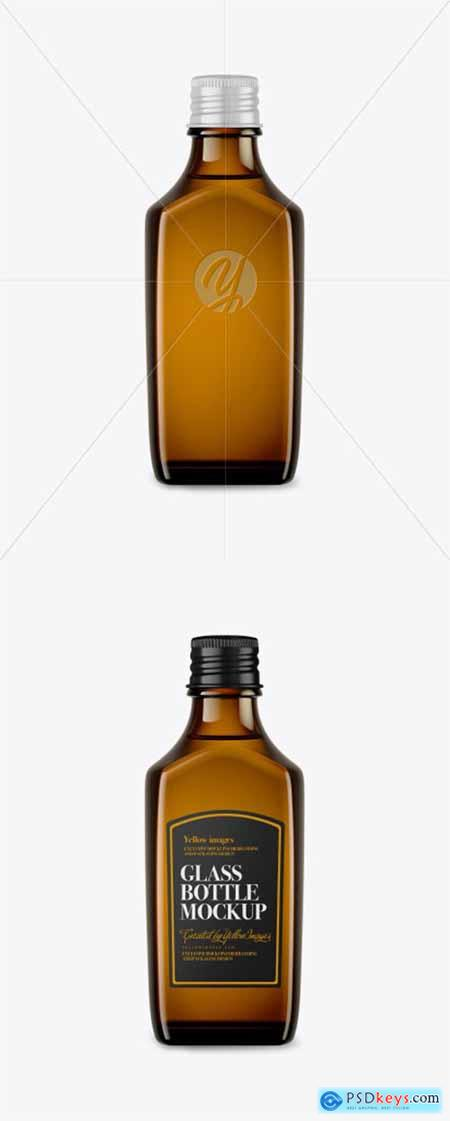 Amber Glass Bottle Mockup 43326