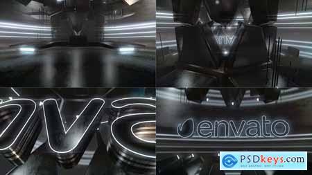 Videohive Cyber Dark Neon Logo Reveal