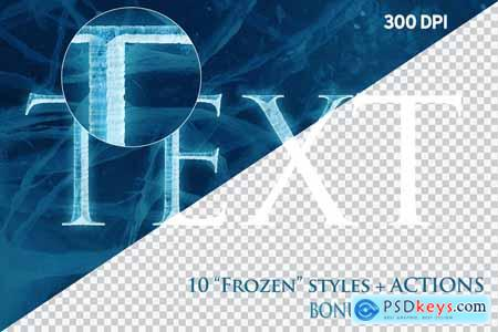 FROZEN Photoshop Effects+Action 3803185