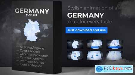 Videohive Germany Map - Deutschland Map Kit - Federal Republic of Germany Map