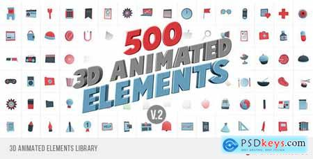 Videohive 3D Animated Elements Library