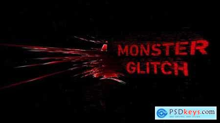 Videohive Monster Glitch Logo Reveal