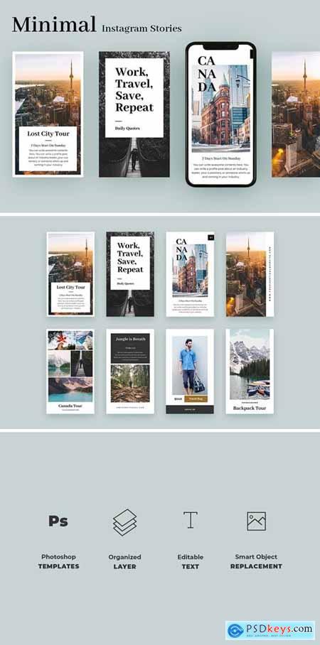 Minimal Travel Instagram Stories