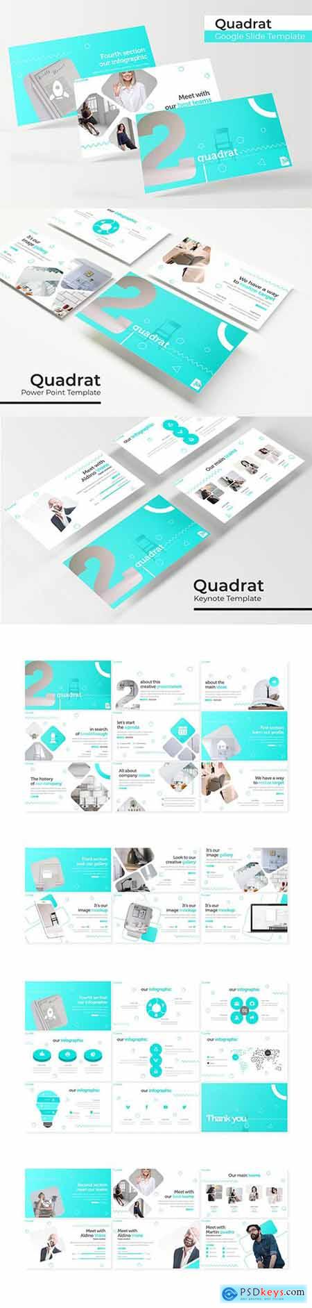 Quadrat - Powerpoint, Keynote and Google Slides Templates