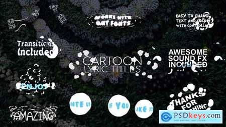 VideoHive 2D Cartoon Lyric Titles After Effects