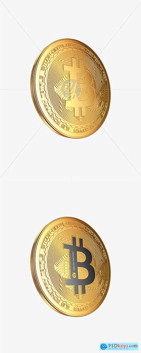 Golden Bitcoin Mockup 44964