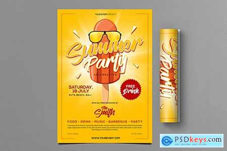 Summer Party Flyer 7DPC9LE
